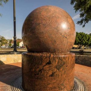 Floating Granite Ball Monument