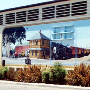 Transport in Time and Place: Trains, Planes and Automobiles Mural